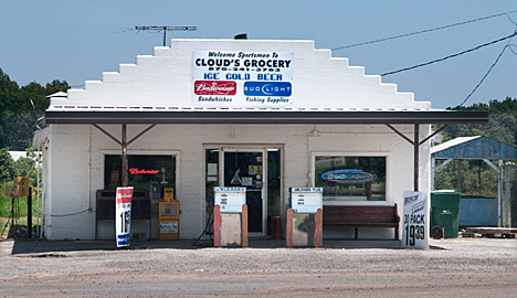 Clouds Grocery at Cascoe, Arkansas is a fine stop for sandwiches.