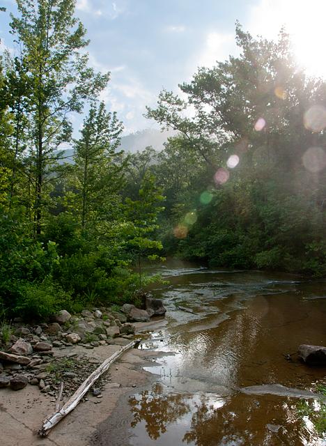 low water bridge on falling water creek