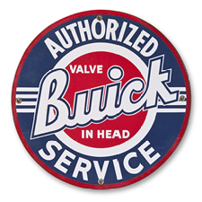 "A Buick sign from ""back in the day."""