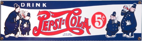 The sho' nuff old, old, old, er ... ah, ancient Pepsi logotype