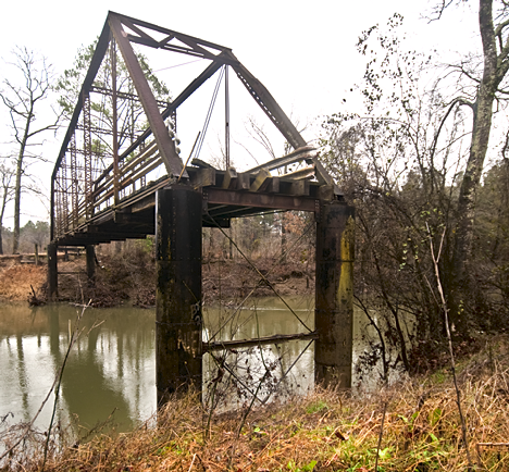 Old Saline River Bridge west of Tull, Arkansas