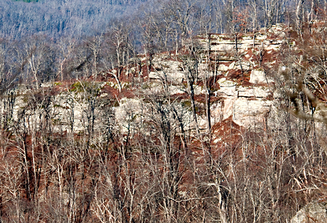 Ozark mountain bluff
