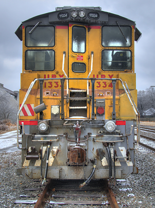 head on photo of locomotive