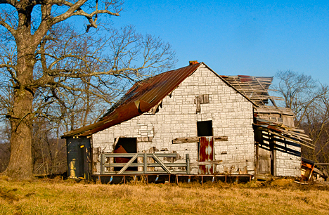 Ozark mountain barn