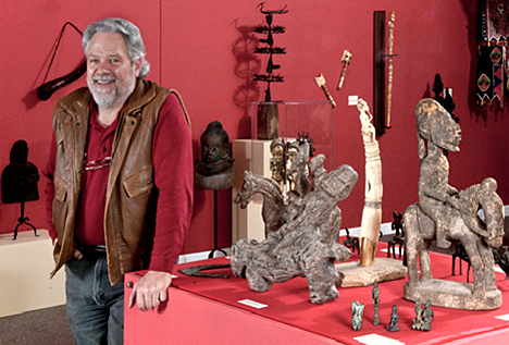Dana Mitchell and his African art
