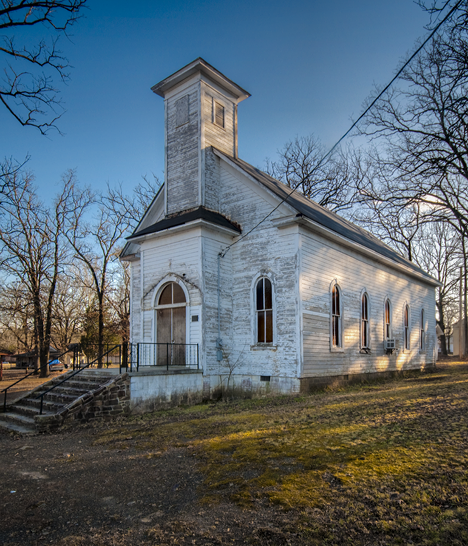 Old Methodist Church in Houston Arkansas
