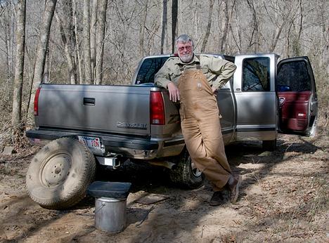 flat tire in Arkansas boondocks