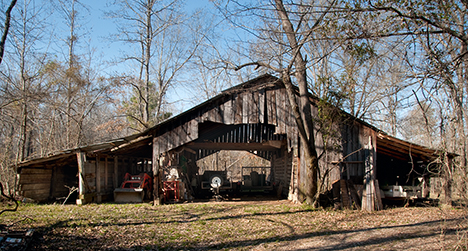 old barn at Arkadelphia Arkansas