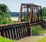 Small railroad bridge