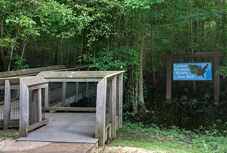 Louisiana Purchase State Park entrance