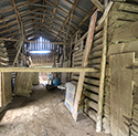 Inside of old barn