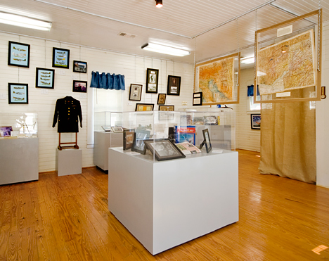 inside the Captain Fletcher E. Adams museum