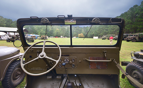 view from wwII jeep