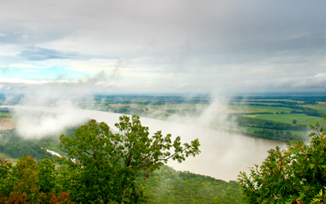 View from the top, Petit Jean Mountain