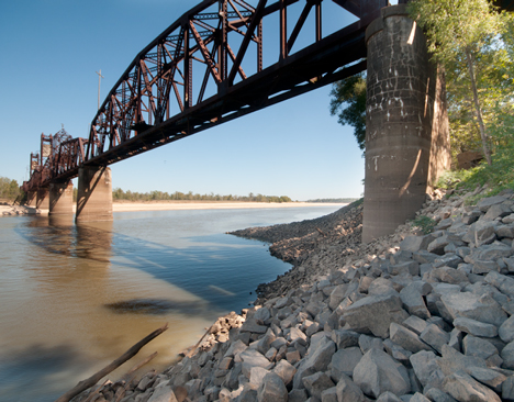 The Arkansas River Bridge at Yancopin, Arkansas