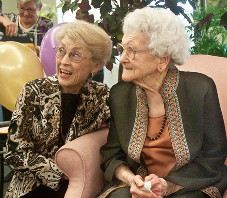 Harriet Montgomery and her mother-in-law, Lucille Montgomery
