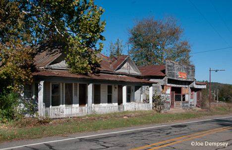 old duplex and store in Hagarville Arkansas