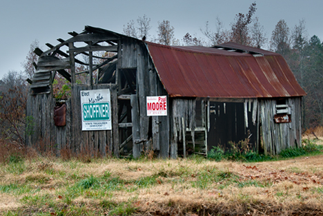 Old barn near Woodward Arkansas