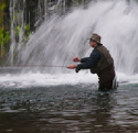 fly fisherman at rockbridge falls