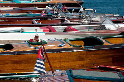 Classic and antique boats at Garvan Gardens