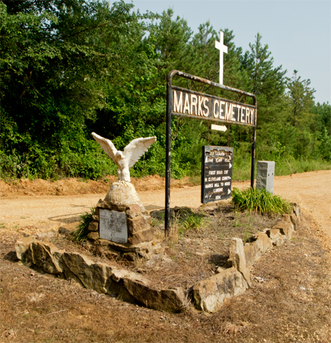 Entrance to Marks Cemetery area