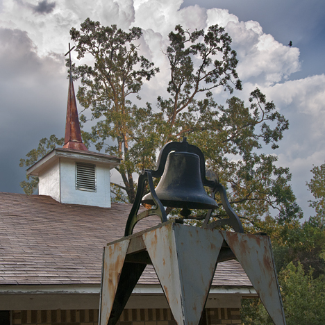 Bell and steeple at Macedonia Missionary Baptist Church in Lincoln County AR