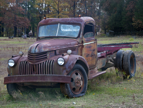 side view 1942 chevy bob truck