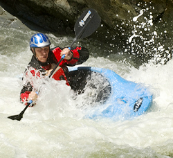 kayaker in Cossatot River white water