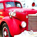 Old fire truck at Parkin AR