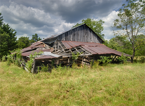 Old country barn