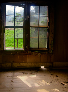 Old window from the inside