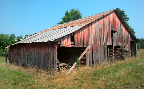 old red barn on us highway 63 near pine bluff arkansas