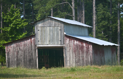 Barn on Mount Harmony Road south of Pine Bluff Arkansas