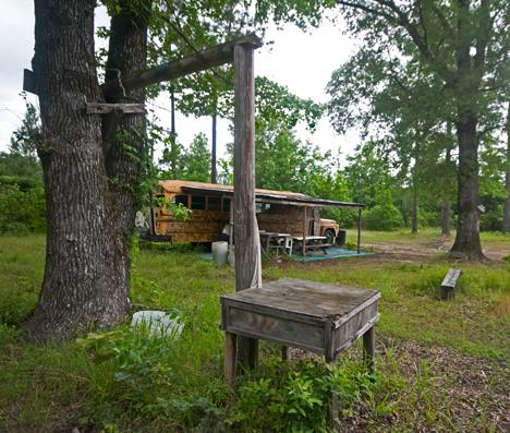 dressing station at deer camp