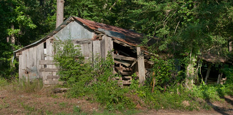 Old barn in Cleveland County, Arkansas