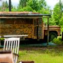 old school bus at deer camp