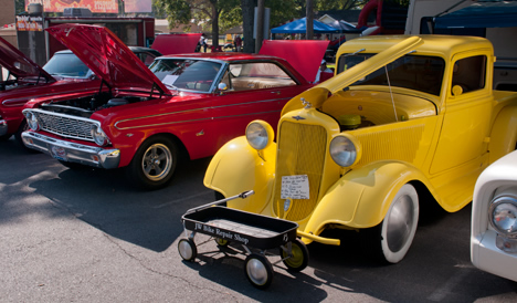 Cars on display