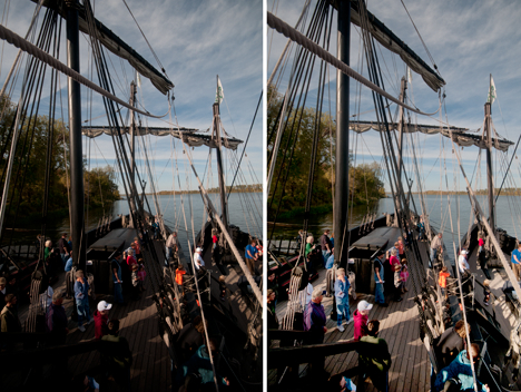 Christopher Columbus replica ships before and after
