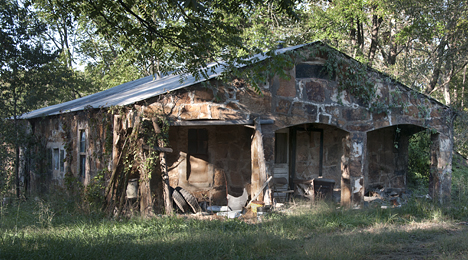 Old rock house in the Arkansas Ozarks
