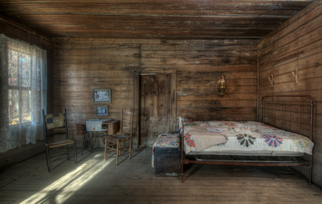 bedroom in dog trot house