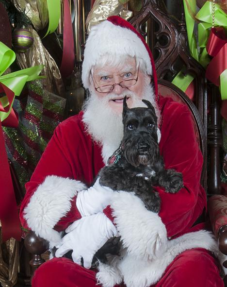 Santa with dog