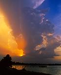 sunset over saracen lake