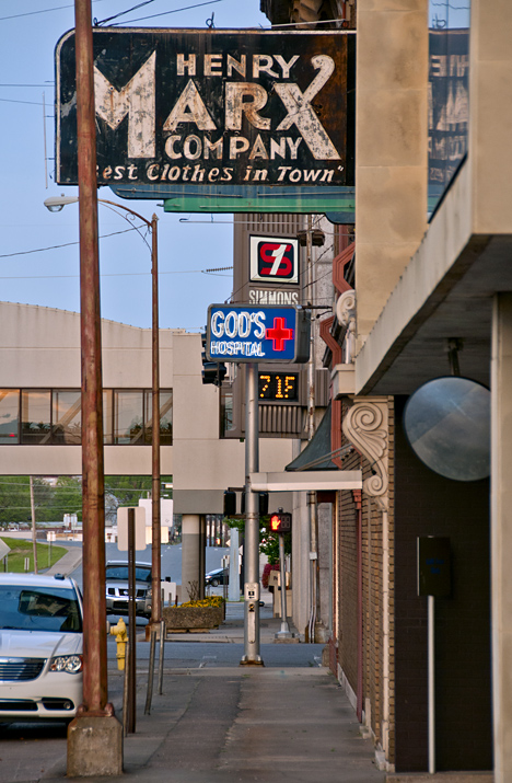 Streetscape in Pine Bluff, Arkansas