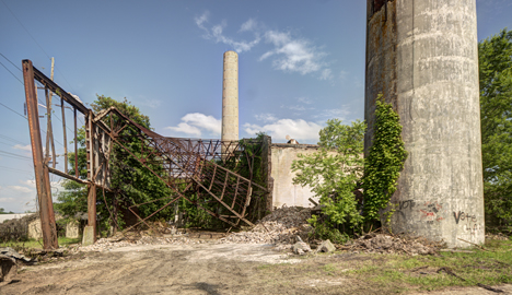 Partially demolished Arkansas Power and Light generation plant