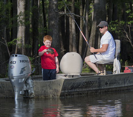 """AT the risk using trite, hackneyed verbiage, """"this is what it is all about. Introducing the next generation of anglers to the sport while"""