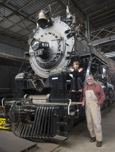 From the left, Engine 819, James Joseph Dempsey and Joseph P. Dempsey. We are grandson and grandfather and on this day, we visited the Arkansas Railroad Museum in our hometown, Pine Bluff, Arkansas. The museum is home for the 819.