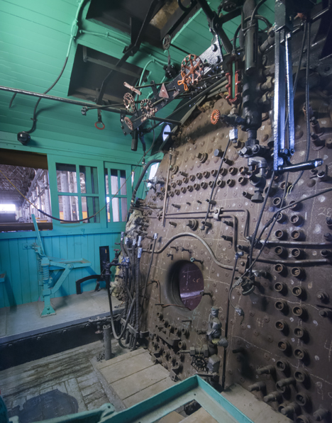 Cab of steam locomotive 819