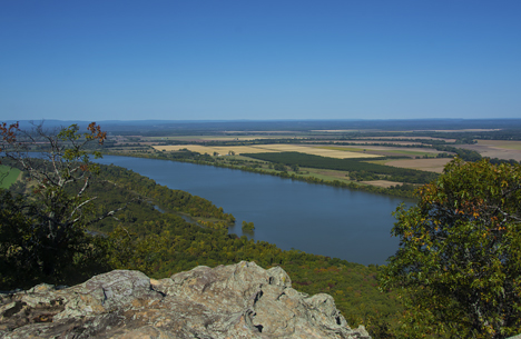 view from petit jean mountain