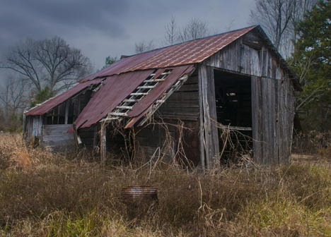Old deteriorating barn