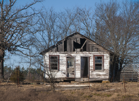 Old abandoned house on a hill